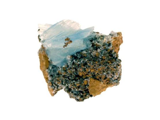 Blauwe Bariet op limoniet basis