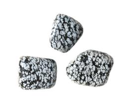 Sneeuwvlok obsidiaan knuffelsteen
