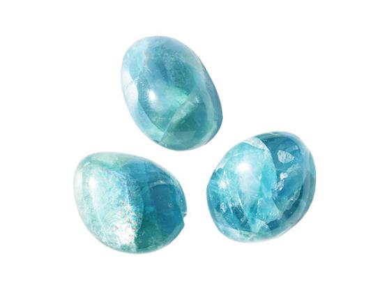 blauwe fluoriet knuffelsteen