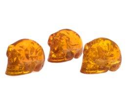 barnsteen schedeltje, mineralen, edelstenen, gemstones, kristal hanger en kwarts, juwelen, sieraden, ruwe, fossielen, gepolijste stenen kopen in webshop