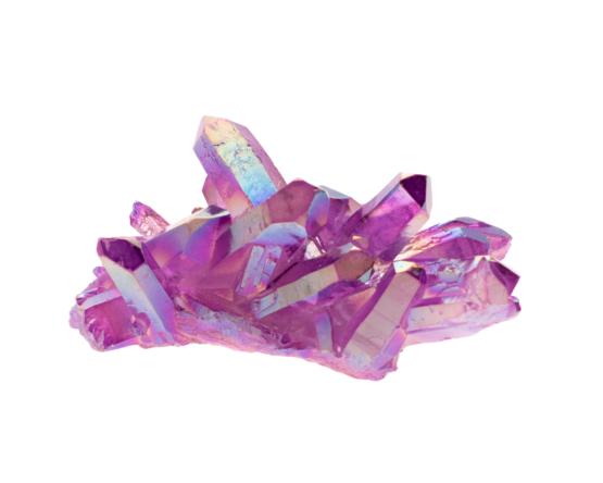 purple aura kwarts cluster