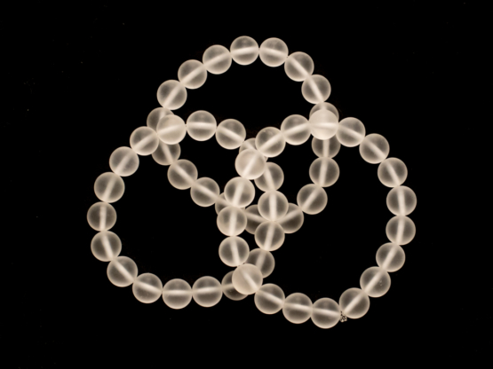 bergkristal armband mat medium