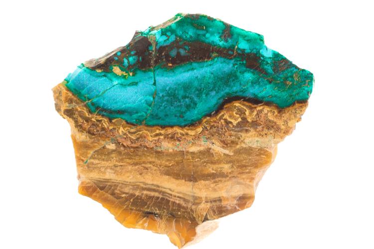 versteend hout blauwe opaal