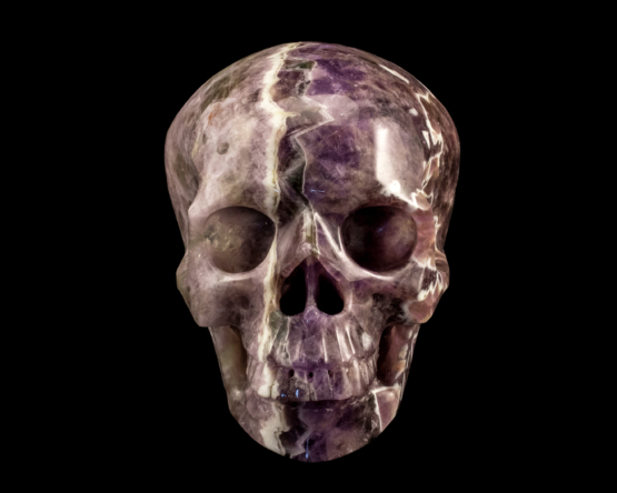 band amethist schedel
