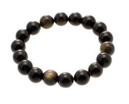 goud obsidiaan armband