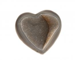 chalcedoon hart met kwarts kristallen
